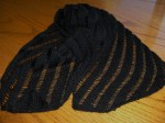 """Clapotis"" Scarf knit with Alpaca Silk in Black"