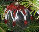 Beaded Christmas Ball