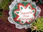 Cross Stitching Ornament