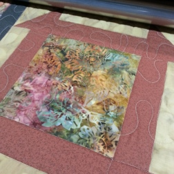I am doing this with Free Motion Quilting