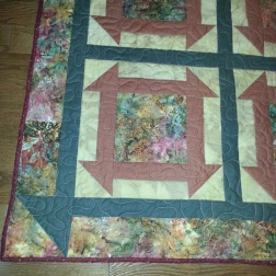 corner of finished quilt