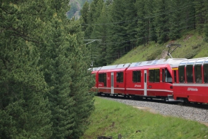 On Board the Bernina Express
