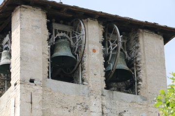 Bell Tower in the village of Comune Di Sorico