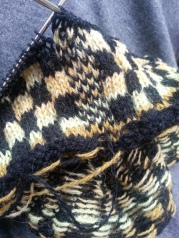 Beginning of my new Flower Power coat that I am knitting now