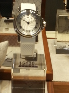 Yes this watch is a total of CHf 15100.00 I told you to leave the walled at home this is one of many...