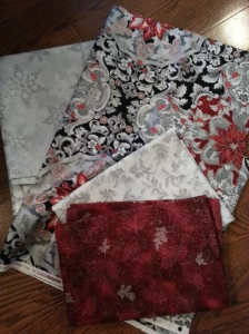 Red, Silver and white Holiday Print