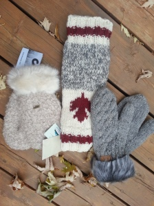 Mittens and leg warmers I bought.