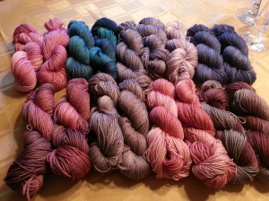 More of Knitswissyarns in DK weight