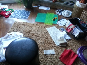 And this is what my floor looked like the past two days...Now I have to go and clean up...