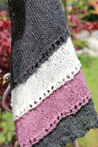 1 skein = 1307.6 meters (1430.0 yards),  Hemp for Knitting hemp3LUX 1 skein of each colour: Charcoal, Purple, lilac