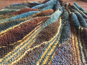 First Autum Fusion Shawl my own