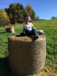 Just had to sit on top of one of these hay bales