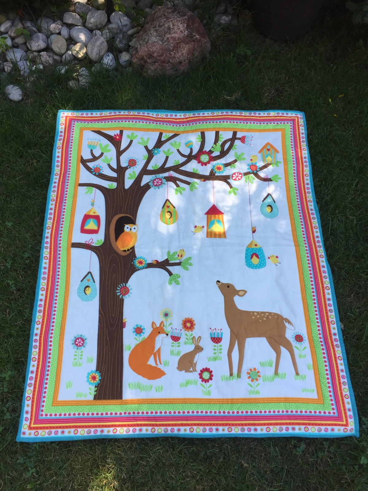 """A little  Birdie Told Me"" -Baby Quilt"