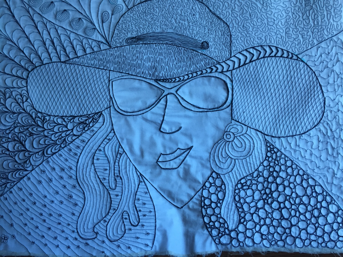 Sewn Zentangle Portrait