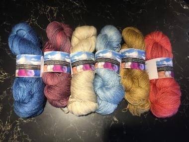 KnitswissYarns. Fingering Weight 50%Merino wool & 50% Silk